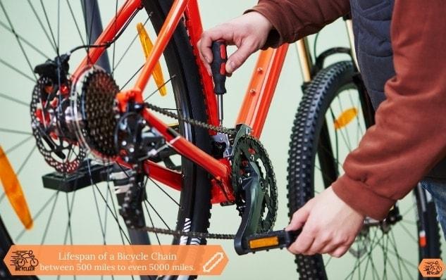 Lifespan of a Bicycle Chain