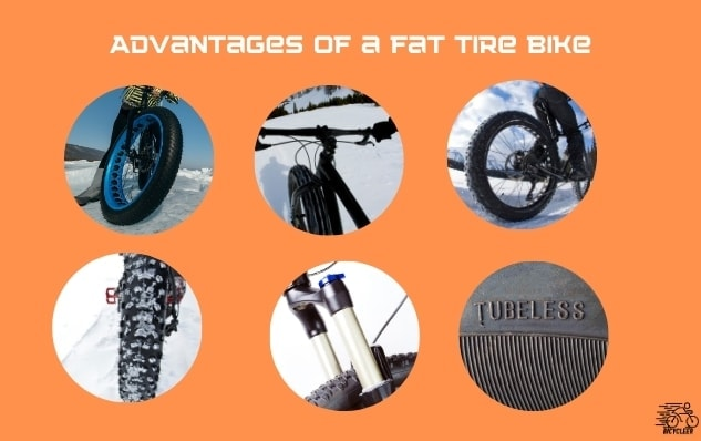 what are the advantages of a fat tire bike