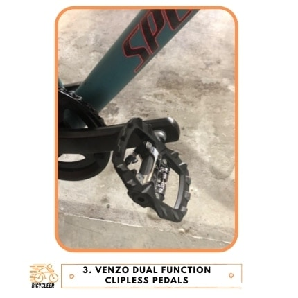 Venzo Dual Function Clipless Pedals
